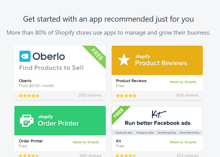 Oberlo review Shopify recommended apps