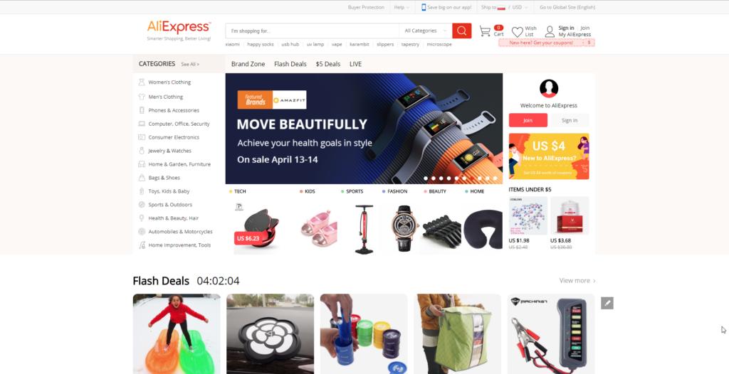 is aliexpress legit homepage